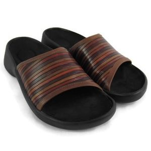 Birkenstock Tamami Unisex Brown Leather Slides